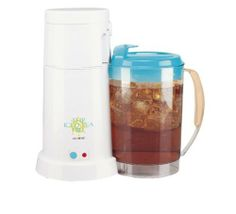 Mr. Coffee TM3 Iced Tea Maker by Mr. Coffee. $39.99. Auto shut-off. Makes great tasting iced tea or iced coffee. 3 Qt. easy-to-pour pitcher. On/off indicator light. Thirsting for a better iced tea maker? With the ability to make 3 quarts of perfectly brewed iced tea, this machine is a great choice for iced tea lovers. And the Removable Brew Basket means youâ?TMll spend less time on cleanup, leaving more time to enjoy your delicious iced tea.