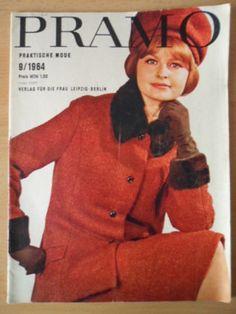PRAKTISCHE MODE PRAMO 9/1964 + + Schnittmusterbogen DDR-Mode-Magazin