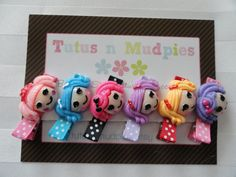 6 Lalaloopsy Hair Clip Set by TutusnMudpies on Etsy, $14.00
