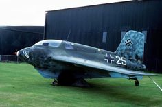 During the Battle of Britain Air Show at RAF St.Athan on September 16th 1978 three ex Luftwaffe fighters were on display including this Messerschmitt Me 163 Komet 191904. Formerly part of JG400 it is now preserved in the Luftwaffe Museum at Berlin - Gatow.