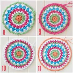 Free crochet mandala pattern-6/16 Just made my first Mandala! It was fun, the counting gets a little tedious, but I'm hooked!