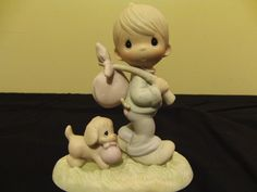 Jonathan Precious Moments Figurines, Beautiful Family, Angels, Blessed, Auction, Hearts, In This Moment, Shopping, In Laws