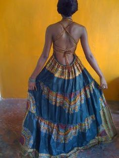 This dress looks perfect for frolicking Burkina Faso - Gorgeous costumisable dashiki african dress African Inspired Fashion, African Print Fashion, Africa Fashion, Ethnic Fashion, Womens Fashion, African Prints, Boho Fashion, African Wear, African Attire