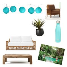 """""""Outdoors!"""" by cath4432 ❤ liked on Polyvore featuring interior, interiors, interior design, home, home decor, interior decorating, Serena & Lily, Room Essentials, CB2 and Flamant"""