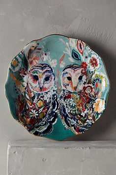 Mooreland dessert plate - owls