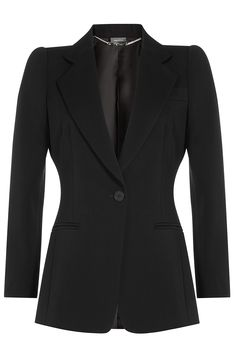 ALEXANDER MCQUEEN Tailored Wool Blazer. #alexandermcqueen #cloth #blazer