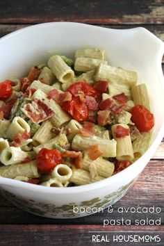 Bacon & Avocado Pasta Salad |Real Housemoms