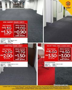 Other for sale, in Klang, Selangor, Malaysia. Best flooring options for an office - Grab Our Sale Today We Save You Save promo is running on Of Best Flooring, Flooring Options, Vinyl Flooring, Office Carpet, Ad Home, Ikea Office, Quality Carpets, Moving Boxes, Wood Vinyl