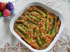 kuchenne wyliczanki: Zielone szparagi zapiekane z jajkiem i szynką