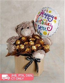 An Edible Arrangement Filled With Ferrero Rocher And