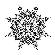 Henna drawings, art drawings, mandala design, mandala dots, zentangle p Mandala Design, Mandala Art, Easy Mandala Drawing, Mandalas Painting, Mandalas Drawing, Mandala Coloring Pages, Flower Mandala, Dot Painting, Simple Mandala Tattoo