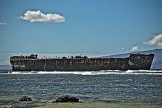 Shipwreck Beach on Lanai, Hawaii