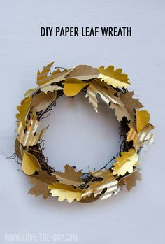 DIY Paper Leaf Wreath With Creativebug - MichaelsMakers Love The Day