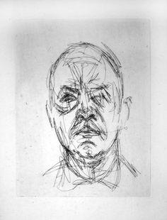 Gravure - Alberto Giacometti - Portrait d'Iliazd