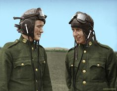 Colourising History - Two Irish Air Corps Pilots in Casement Aerodrome, Baldonnel, Ireland Defence Force, Military History, Pilots, World War Ii, Dublin, Vintage Black, Ww2, Badass, Ireland