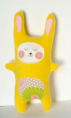 Plush Bunny Rabbit Doll Stuffed Animal by FriendsOfSocktopus, $24.00