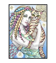 """Mira & Orlando"" - Fine art print of my original ACEO size drawing - Fariy-Tangles™ by Norma J Burnell http://www.ebay.com/itm/181204397523?ssPageName=STRK:MESELX:IT&_trksid=p3984.m1555.l2649"