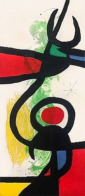 Les Grandes Manœuvres (The Great Maneuvers), 1973 by Joan Miro. Masterworks Fine Art