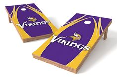 Minnesota Vikings Cornhole Board Set - The Edge
