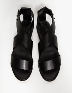 Minimal + Classic: Cross Strap Sandal by Common Projects
