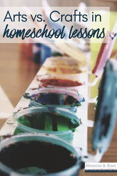 What's the difference between arts and crafts and which ones do you need in your homeschool? About: homeschool lessons, homeschool planning, homeschool structure, homeschool tips, homeschool curriculum, charlotte mason homeschooling, waldorf homeschooling, nature school, secular homeschool, blossom and root Pre K Homeschool Curriculum, Homeschool Kindergarten, Homeschooling, Classical Education, Charlotte Mason, Arts And Crafts, Make It Yourself, Tips, Nature