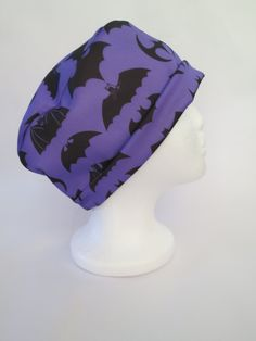 Scrub Hat Theatre Surgical Nurses Cap  Purple by SnazzyScrubHats