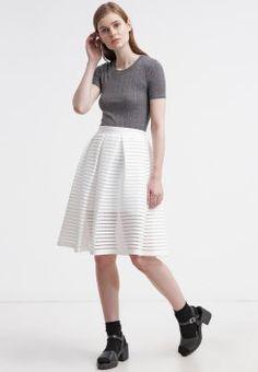 Topshop - Falda plisada - white