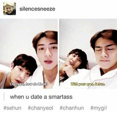 Sehuns face is priceless! XD