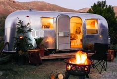 Glamping in California, USA - Big Sur Getaway, Airstream Camping Airstream Camping, Airstream Living, Airstream Interior, Airstream Trailers, Camping Glamping, Yacht Interior, Airstream Rental, Camping Tips, Airstream Remodel