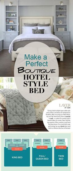 There is nothing that makes a bedroom look more luxurious or high end than a well made bed. What it takes my friends, are the secrets. So we found some great blogs offering their tips for how you can make a perfect bed and have it look amazing every day of the week, every season of the year.