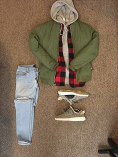 Outfit of the day bomber Turtle dove yeezys Forever21 men Flannels Layering #OOTD #OUTFITGRID
