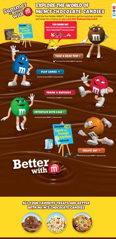 Summer is Better with M! Find the 5 hidden M'S® characters and enter for a chance to win a $2500 Walmart Gas Card.