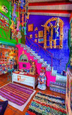 Home Decoration Shops Near Me Mexican Home Decor, Mexican Art, Bohemian House, Bohemian Decor, French Bohemian, Mexican Colors, Deco Originale, Deco Boheme, Style Deco