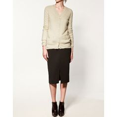 Zara 'Long Cashmere Cardigan'. We believe this is what Kate wore when shopping Oct. 25, 2013. The link is to our post of Dec. 2012 which better shows the item.