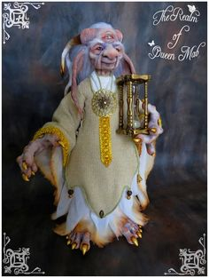 Classic Fairies. The Keeper of Time. Fantasy Art doll. (Poseable). -------- #Artdolls #Fantasydolls #Fantasymagic #Ooakfairies #Theenchantedcollective #Froudian