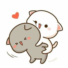 When you are my piggyback and like this, we will go shopping 🐽💕 Cute Love Pictures, Cute Love Gif, Cute Cat Gif, Cute Images, Cute Kawaii Drawings, Kawaii Doodles, Cute Doodles, Cute Animal Drawings, Wallpaper Gatos
