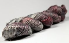 Steel Roses Hand Dyed Silk & Merino yarn 100g ~ shunklies - This would be absolutely divine!