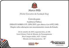 Informação presta: leia os arquivos do blog: ITESP CONVIDA: Audiência Pública: Debate sobre o P...