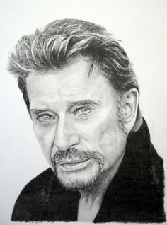 Drawing Pencil Portraits - Portrait de Johnny Hallyday : Crayons graphite Caran dAche de à Feuille Bristol Discover The Secrets Of Drawing Realistic Pencil Portraits Realistic Drawings, Art Drawings Sketches, Cool Drawings, Pencil Drawings, Face Drawings, Photo Portrait, Pencil Portrait, Human Figure Drawing, Pencil Drawing Tutorials