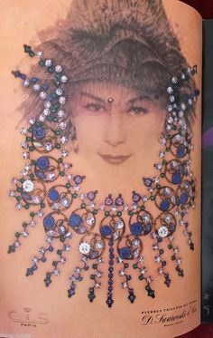 CIS NECKLACE CONSTRUCTED OF SWAROVSKI CRYSTALS SHOWN IN L'OFFICIEL MAGAZINE
