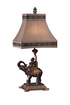 "Money on Elephant Brasilia Bronze Accent Lamp on HauteLook | resin base | 1x 60w | 11""w x 9""d x 24""h | 165.00 retail | 75.00 Haute Look"