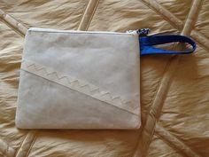 Sailcloth zipper pouch make up bag handmade from by Sailknot