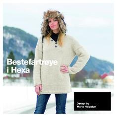 Bestefartrøye i Hexa - Oppskrifter - Nettbutikk - Design by Marte Helgetun Knitting Designs, Knitting Patterns, Knit Crochet, Graphic Sweatshirt, Pullover, My Style, Sweatshirts, Sweaters, Diy