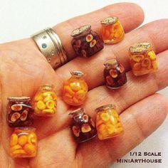 Tiny jars  #miniature #mywork #jug #jar #jugs #jars #apricot #apricots #glass #plum #plums #hand #ring #handmade #polimerclay #jam #confiture #confitures #jam #dollhouseminiatures #food #miniarthouse #миниатюра #кукольныйдомик #полимернаяглина #ручнаяработа #абрикос #слива #варенье #джем #мояработа by miniarthouse