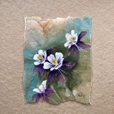 Miniature Watercolor Landscapes And Fashion Sketches Delicately Painted On Used Tea Bags Watercolor Landscape, Watercolor Flowers, Watercolor Art, Tea Bag Art, Tea Art, Watercolor Paintings Of Animals, Used Tea Bags, Colossal Art, Mail Art