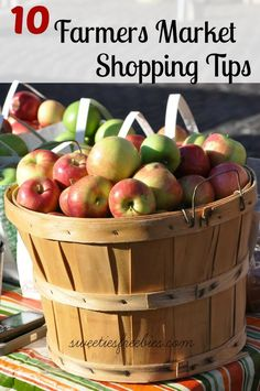 10 Farmers market shopping tips that are great for all of the farmer's markets you can find nearby The Waypointe!