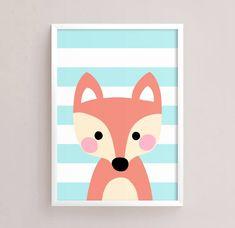 Sale Off = Printable Nursery Art Set of 4 - Fox Panda Lion Bear ( Baby room decor kids Poster Cute Animals kawaii Nursery art Woodland Baby Canvas, Cute Canvas, Canvas Art, Canvas Paintings, Baby Room Paintings, Animal Paintings, Canvas Painting Projects, Diy Painting, Easy Disney Drawings