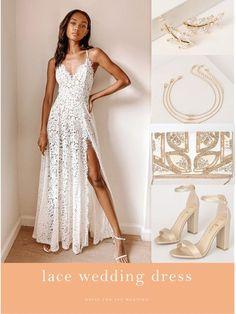 LIKEtoKNOW.it Designer Wedding Dresses, White Lace, Bridal Gowns, Formal Dresses, Shopping, Beautiful, Tops, Fashion, Bride Dresses