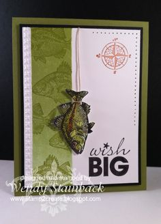 Love this fish card. Perfect for Manly cards. Stampin Up