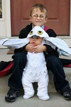 Cosplay Harry Potter and Hedwig